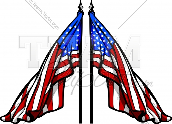 Colonial Flag Vector Art Clipart Image. Easy to Edit Format..