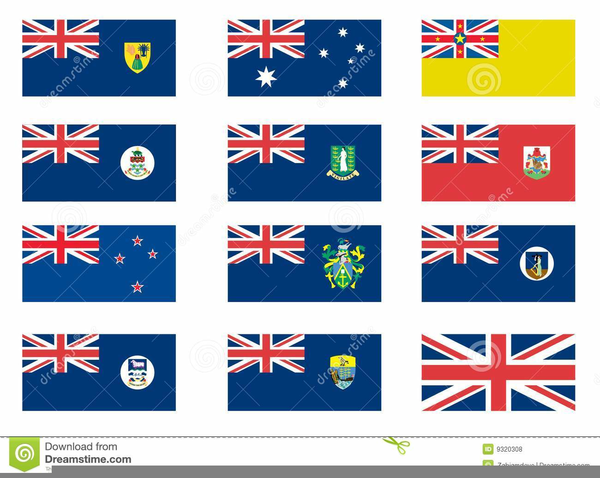 Colonial Flag Clipart.