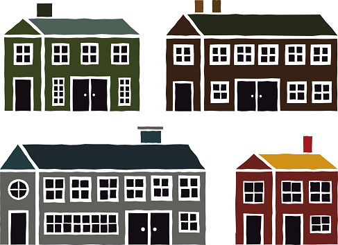 Colonial House Clip Art, Vector Images & Illustrations.