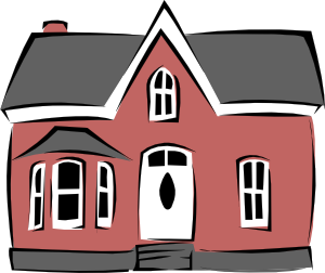 Colonial House clip art Free Vector / 4Vector.