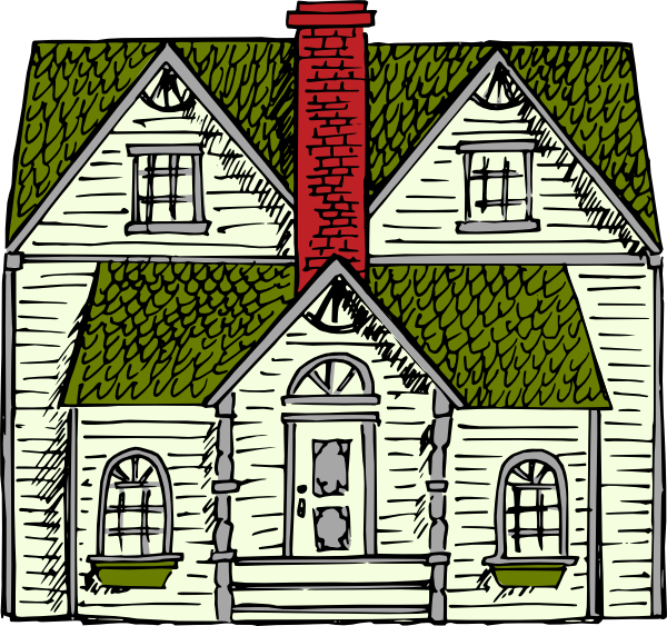 Colonial house clipart.