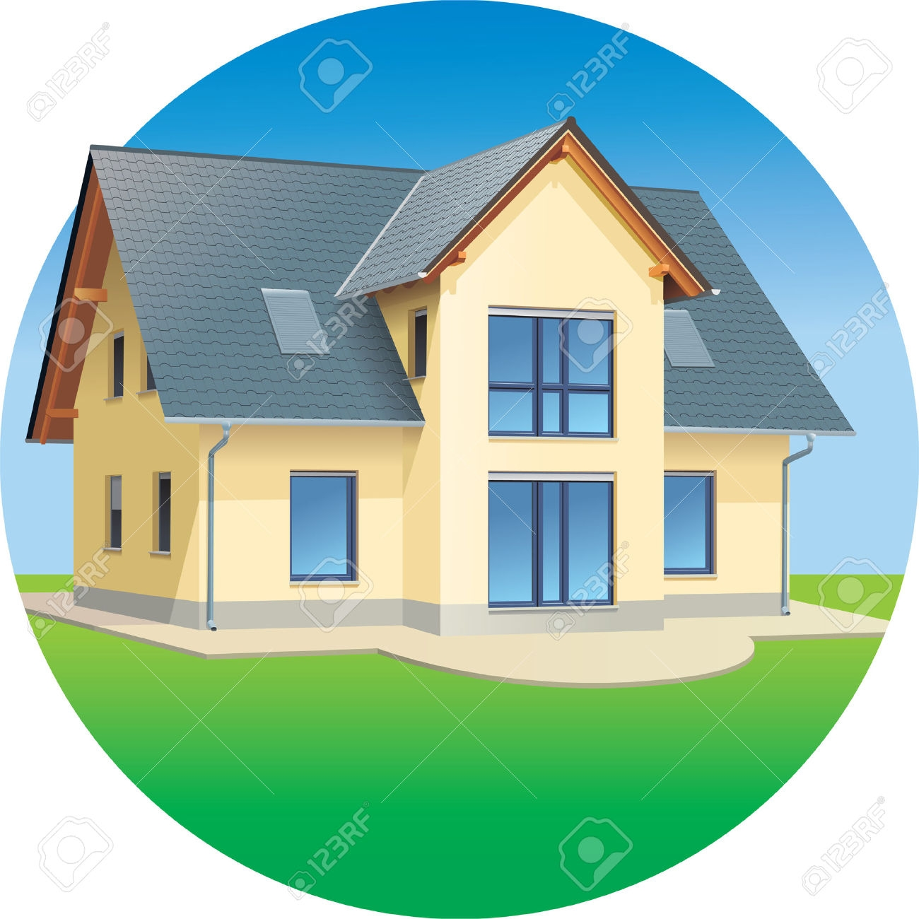 Colonial houses clipart clipground for Modern house clipart