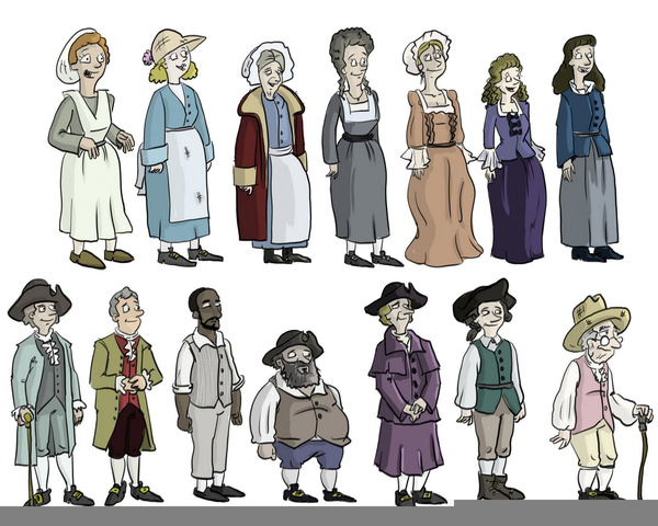 Colonial Life Clipart.