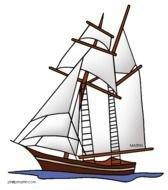 Colonial Ship Clip Art free image.