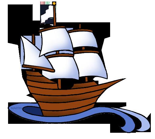 Transportation Clip Art by Phillip Martin, Colonial Ship.