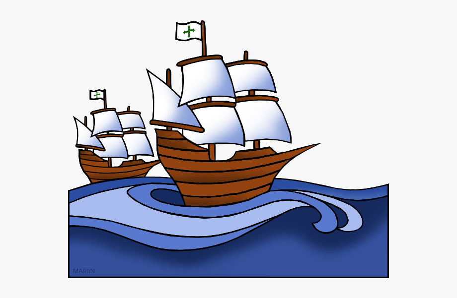 Columbus Day Clip Art By Phillip Martin, Nina And Pinta.