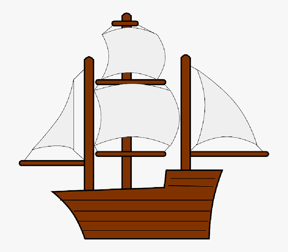 Mayflower Clipart Sail Boat.