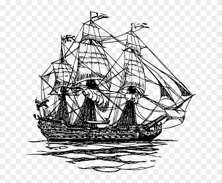Ship Clipart Colonial.