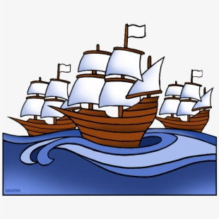 Explorers Clip Art By Phillip Martin, Spanish Ship.