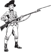 Colonial Soldier Clip Art, Vector Colonial Soldier.