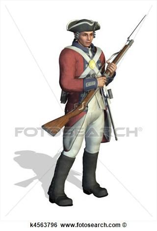 Clip Art American Patriotic Colonial Soldier Clipart.