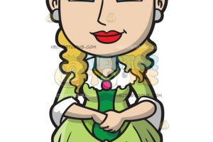 A fashionable 18th century colonial woman » Clipart Station.