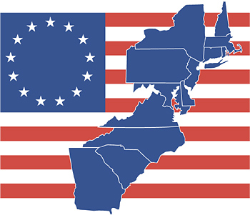 American colonies clipart.