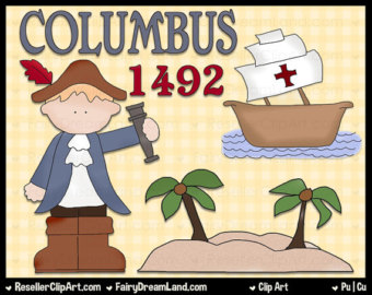 Colonization of the new world clipart.