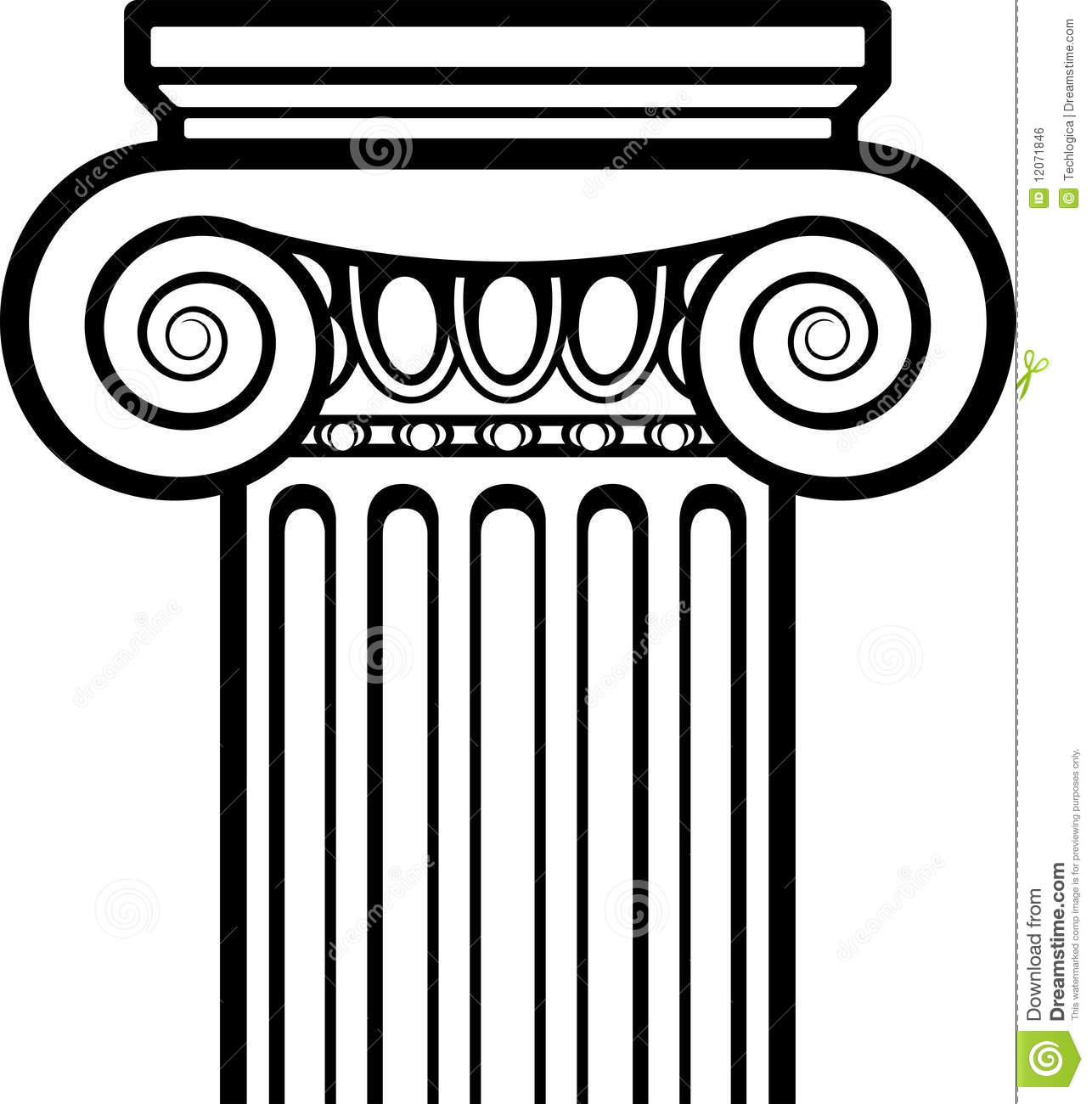 Ionic Columns Clipart.