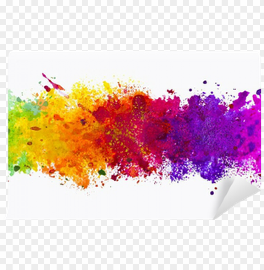 color splash background PNG image with transparent background.