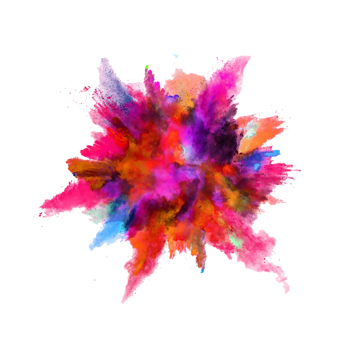 Holi Color Background Transparent PNG.