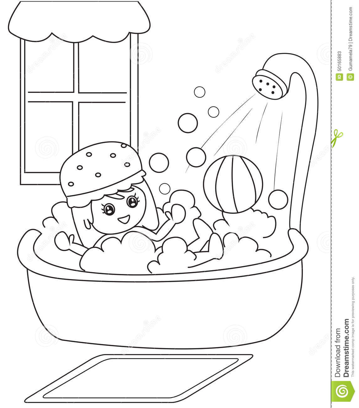 bathroom coloring pages - photo#43