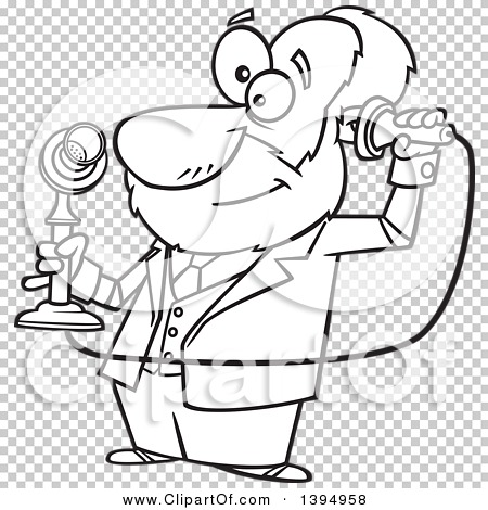 Clipart of a Cartoon Black and White Male Inventor, Alexander.