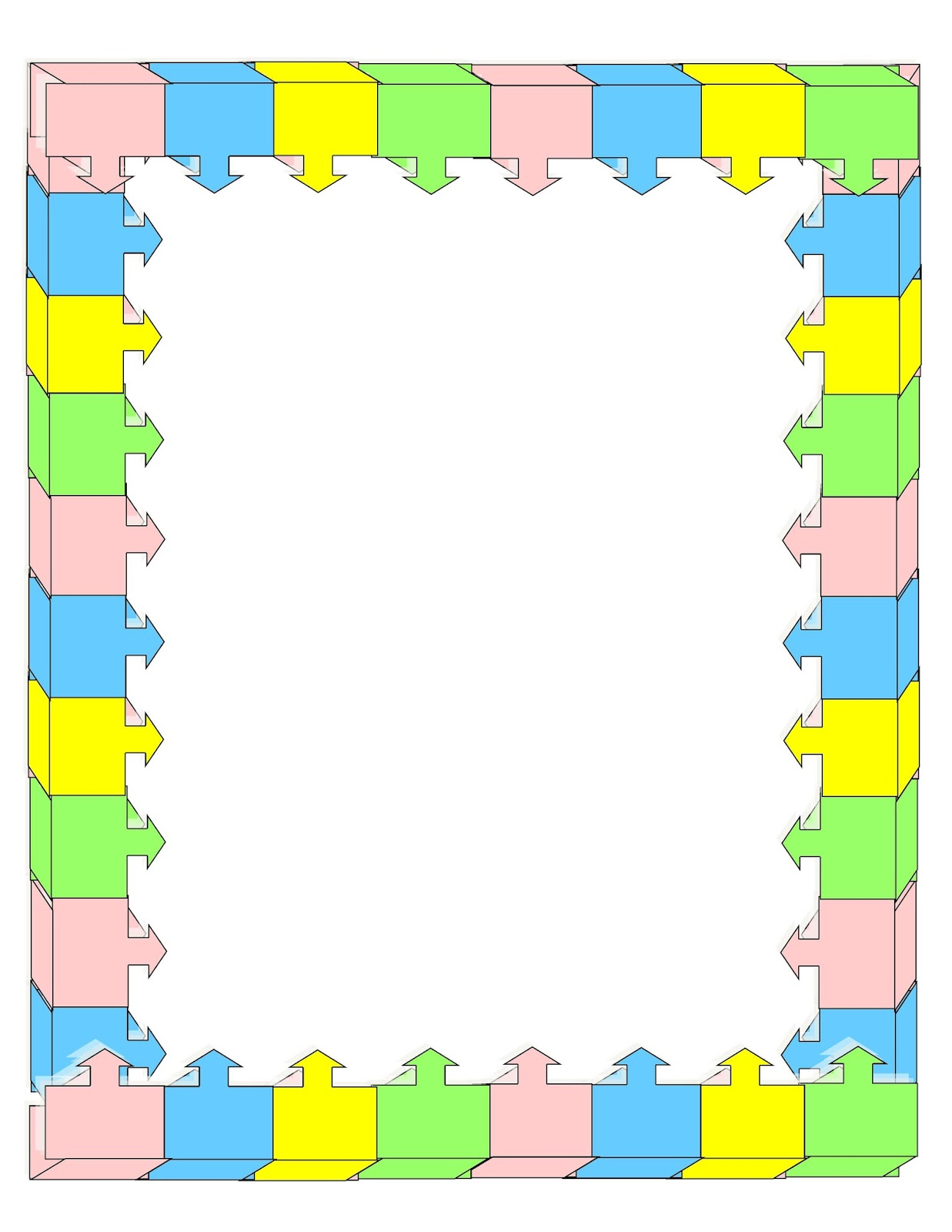 Easy Color Blocked Frame — Crafthubs.