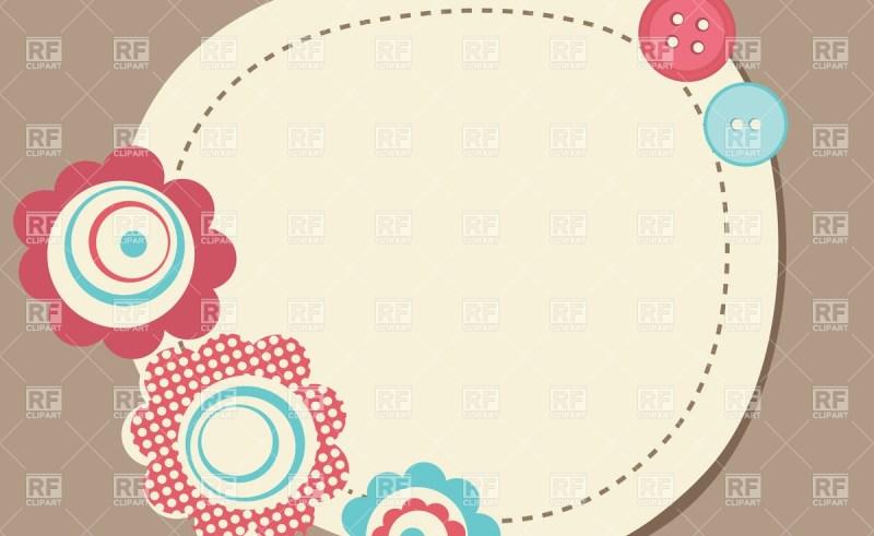 Neon Flower Border Clip Art.