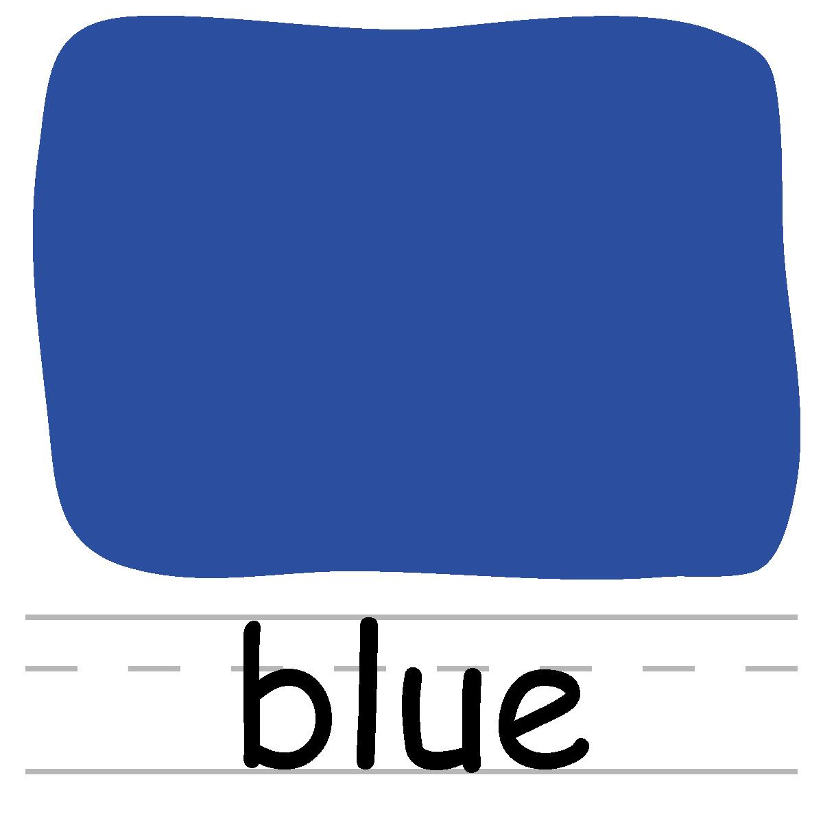 Blue Color Clipart.