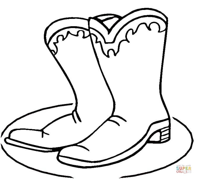 Cowboy Boots coloring page.