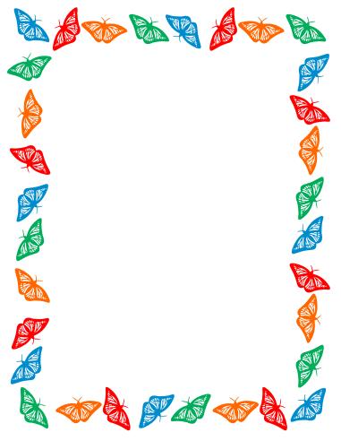 Color Border Cliparts.
