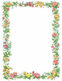 Floral color border.
