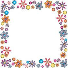 Floral Border clip art.