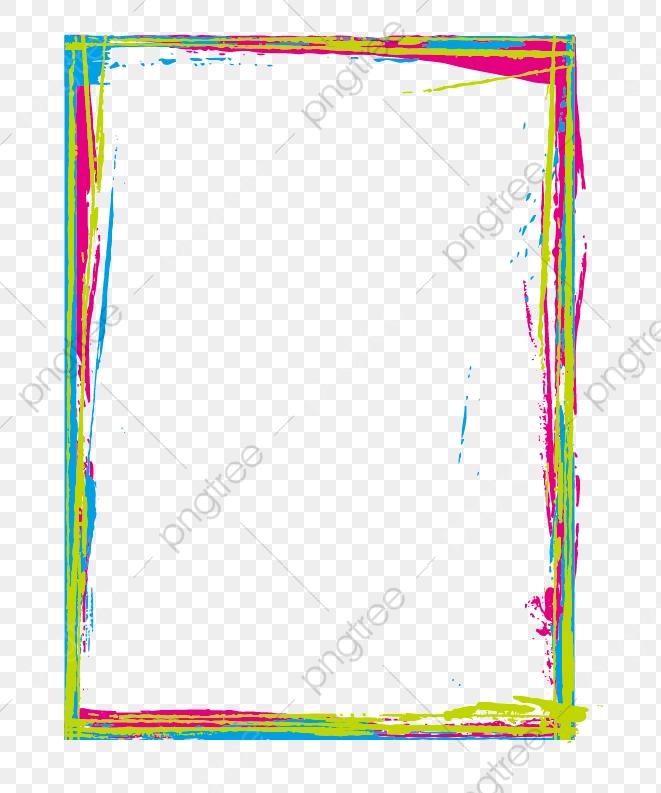 Color Inkjet Border, Color Clipart, Color, Brush PNG Transparent.
