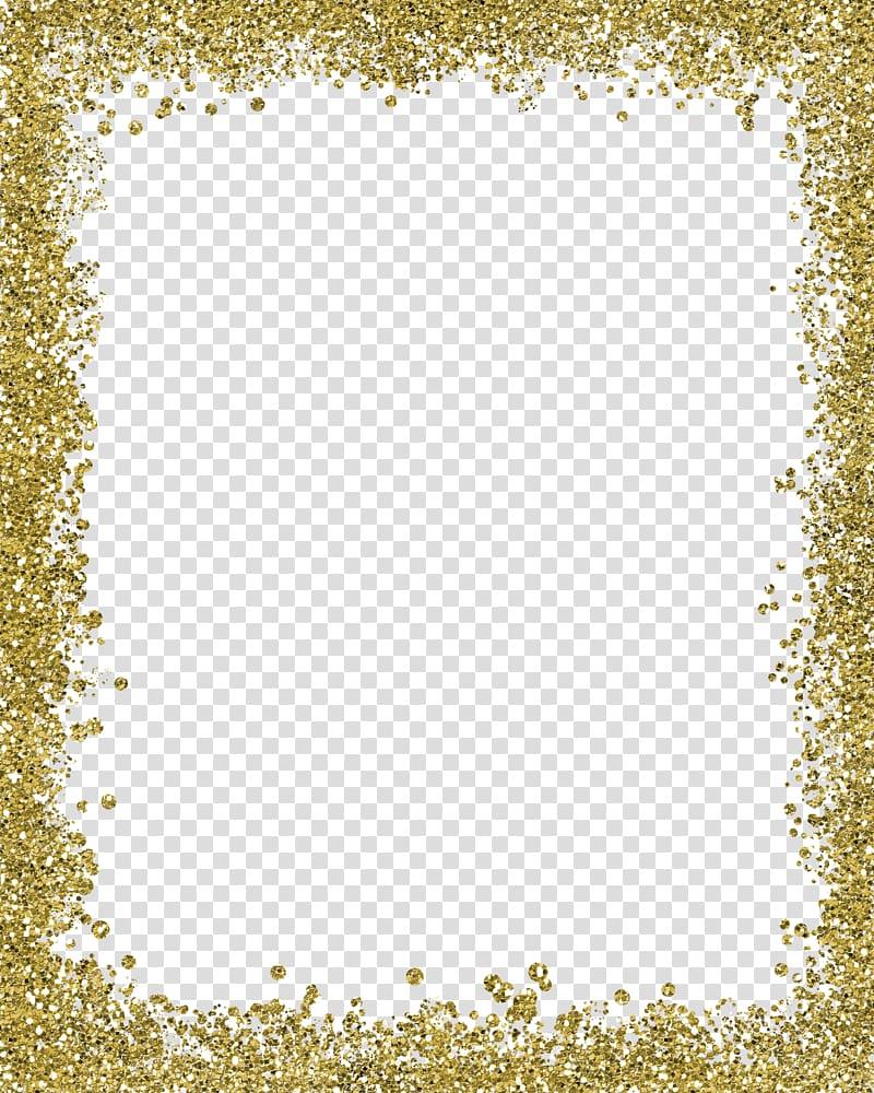 Brown glitters background, Gold Color , Gold color border,frame.
