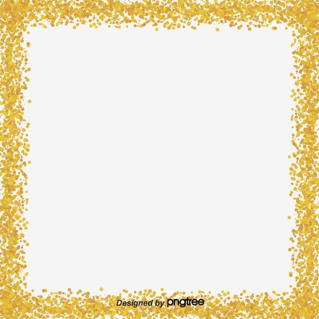 Gold Color Border Frame, Color Clipart, Frame Clipart, Gold Color.