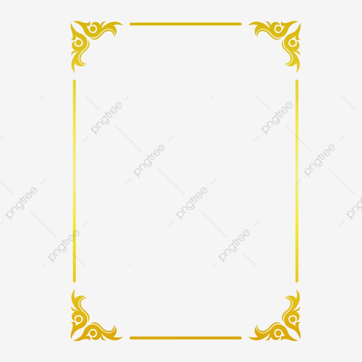 Golden Border Warm Color Border Frame Picture Frame Gold, Hot.