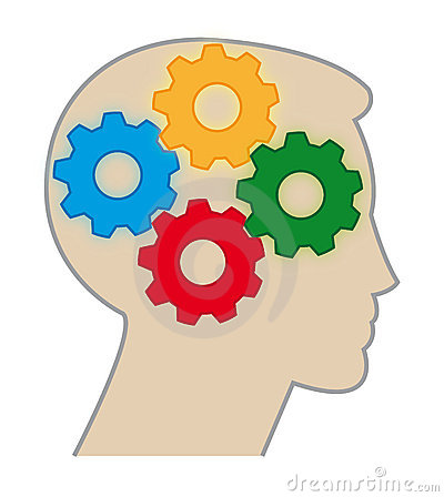 Brain Color Gears Royalty Free Stock Photo.