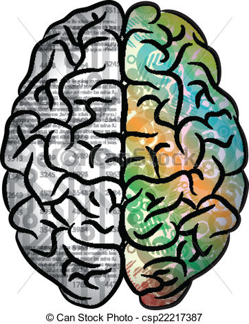 Vector of Human brain color.