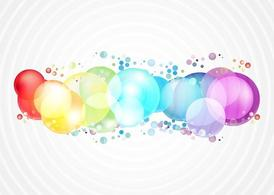 Rainbow Color Bubbles Clipart Picture Free Download.