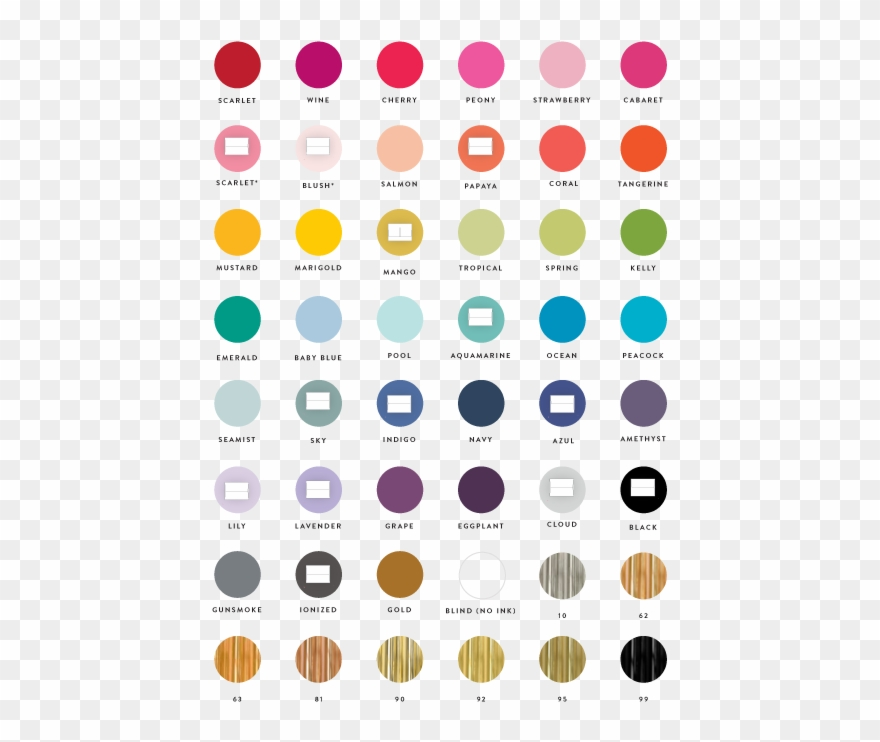 Ink Color Chart Clipart (#2419966).