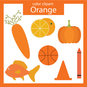 Color Clip art: orange objects.