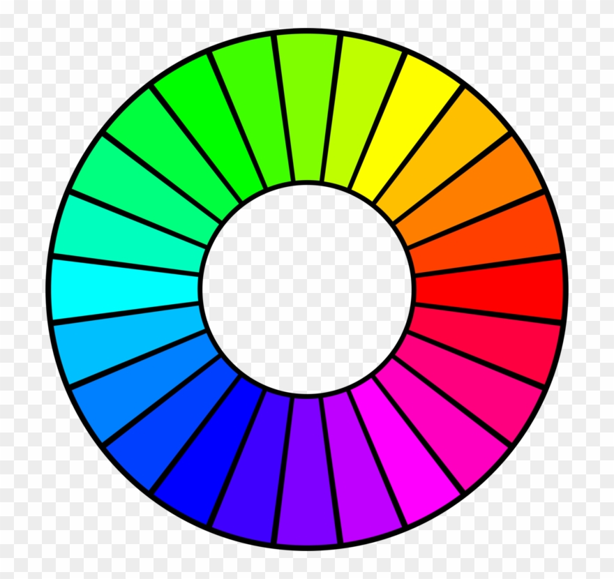 Color Wheel Drawing Hue Tertiary Color.