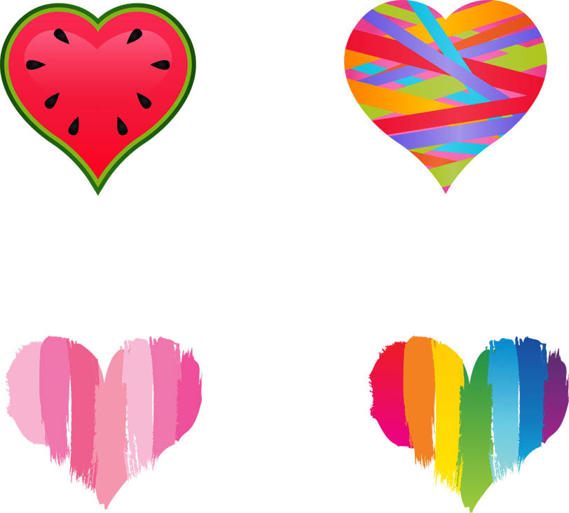 Free Colored Heart Cliparts, Download Free Clip Art, Free Clip Art.