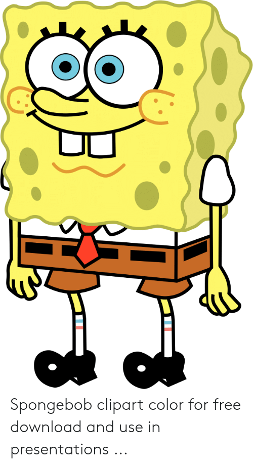Spongebob Clipart Color for Free Download and Use in Presentations.