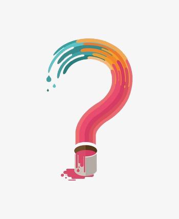 Flat Color Question Mark, Color Clipart, Question Clipart, Free.
