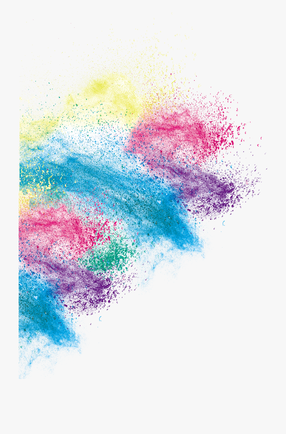 Art Inkjet Color Effect Creative Printing Dust Clipart.