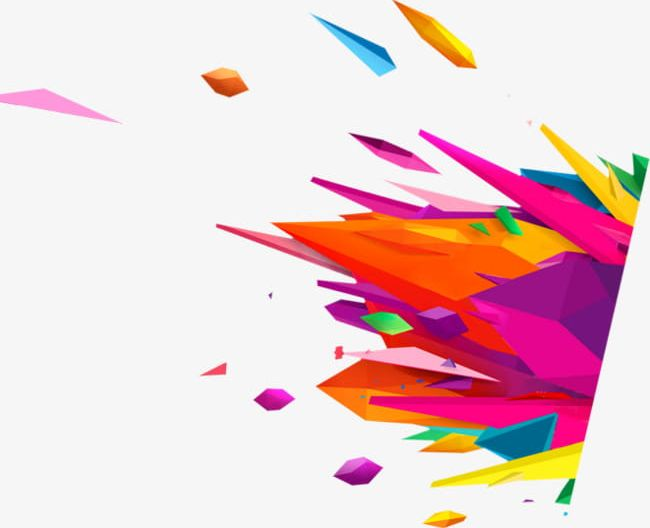 Creative Color Splash Effect PNG, Clipart, Abstract.