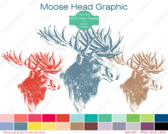 Moose clipart.
