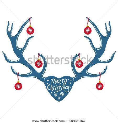 Reindeer Antlers Stock Images, Royalty.
