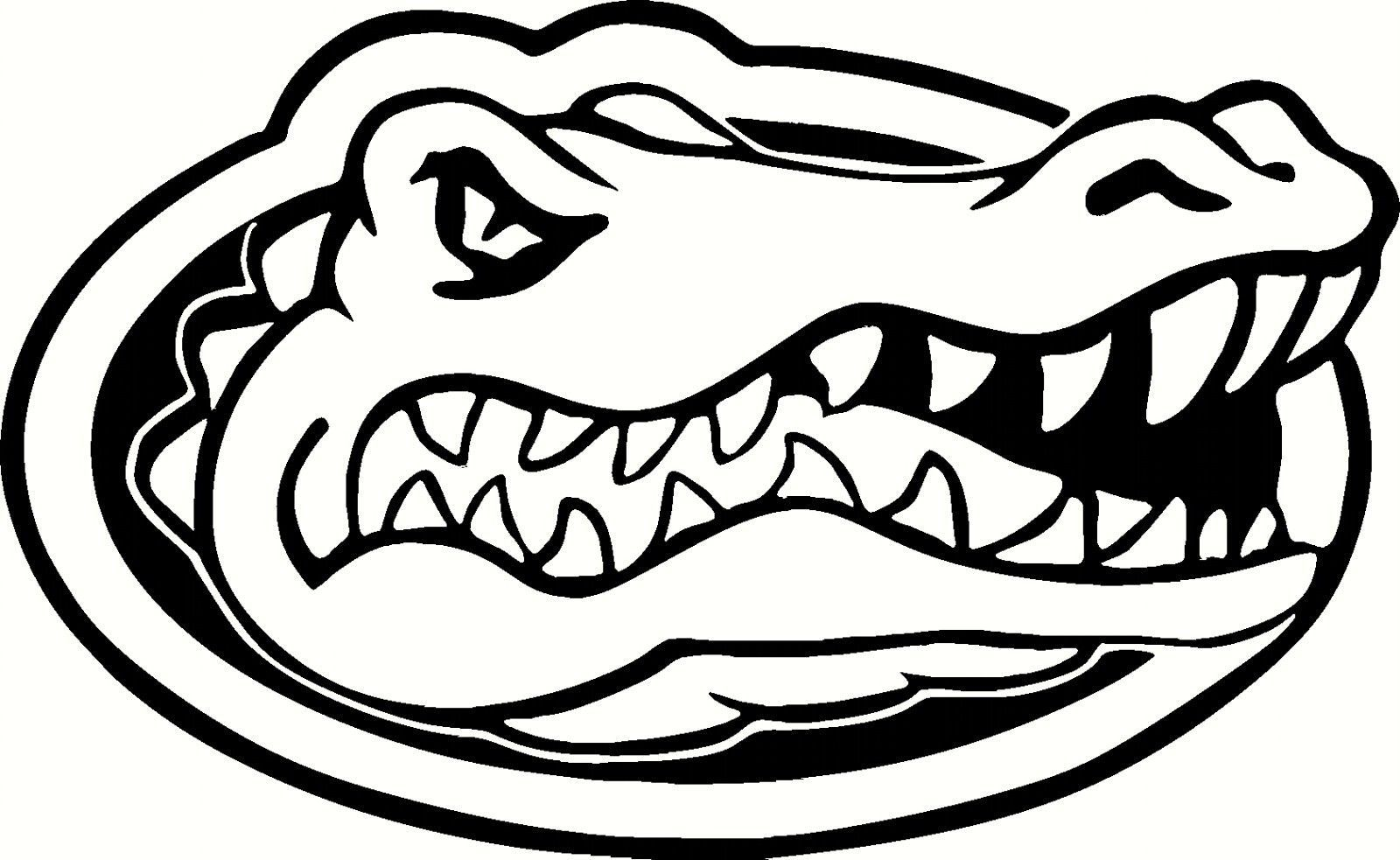 Color clipart of the florida gator mascot clipground for Florida gator coloring pages