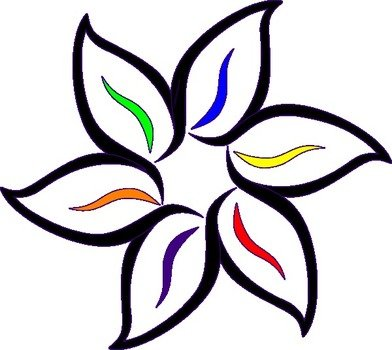 Multi Color Flower At Clkercom Vector Online clipart free image.