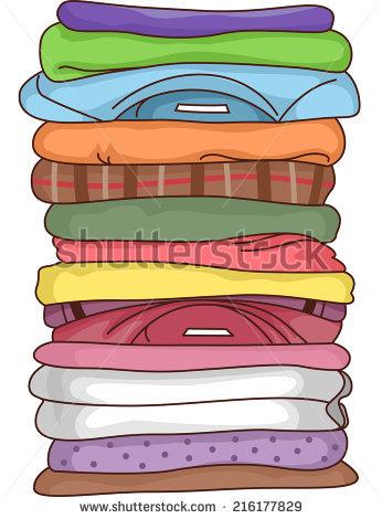 Pile Of Clothes Stock Vectors, Images & Vector Art.